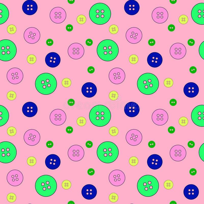 Boutons colorés abstraits modèle sans couture, textile, conception extérieure illustration libre de droits