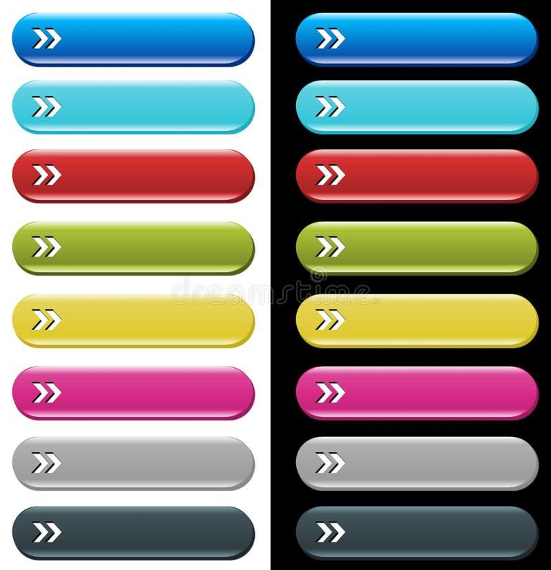 Boutons colorés de site Web illustration de vecteur