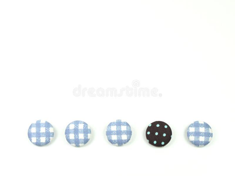 Boutons colorés de tissu d'isolement illustration libre de droits