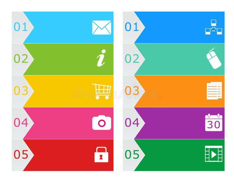 Boutons colorés pour le Web illustration libre de droits