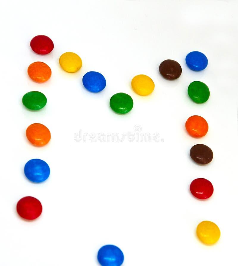 Boutons color?s de chocolat image libre de droits