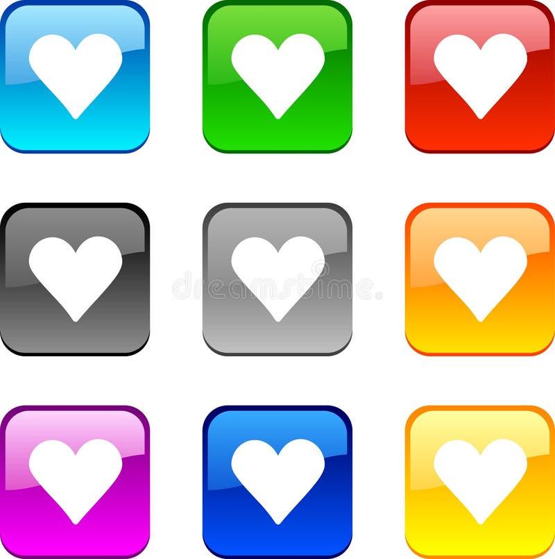 Boutons d'amour. illustration libre de droits