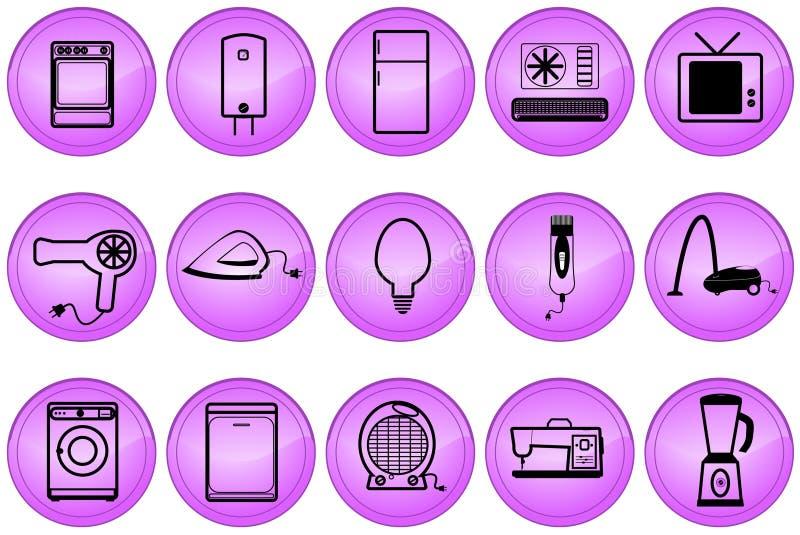 Boutons d'appareils ménagers illustration de vecteur