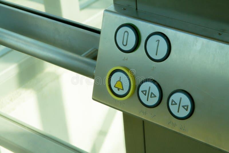 Boutons d'ascenseur à l'intérieur photo stock