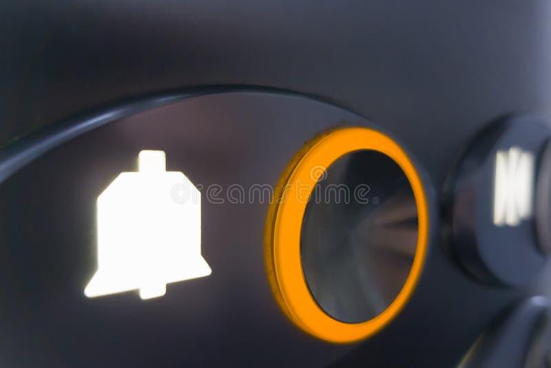 Boutons d'ascenseur, avec le foyer sélectif photo stock