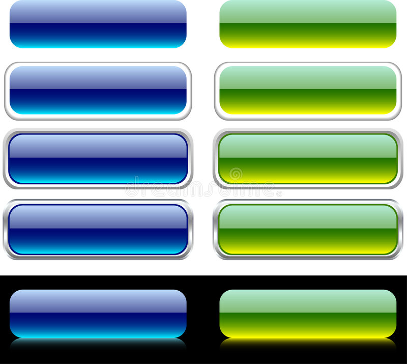 Boutons d'Internet. illustration stock