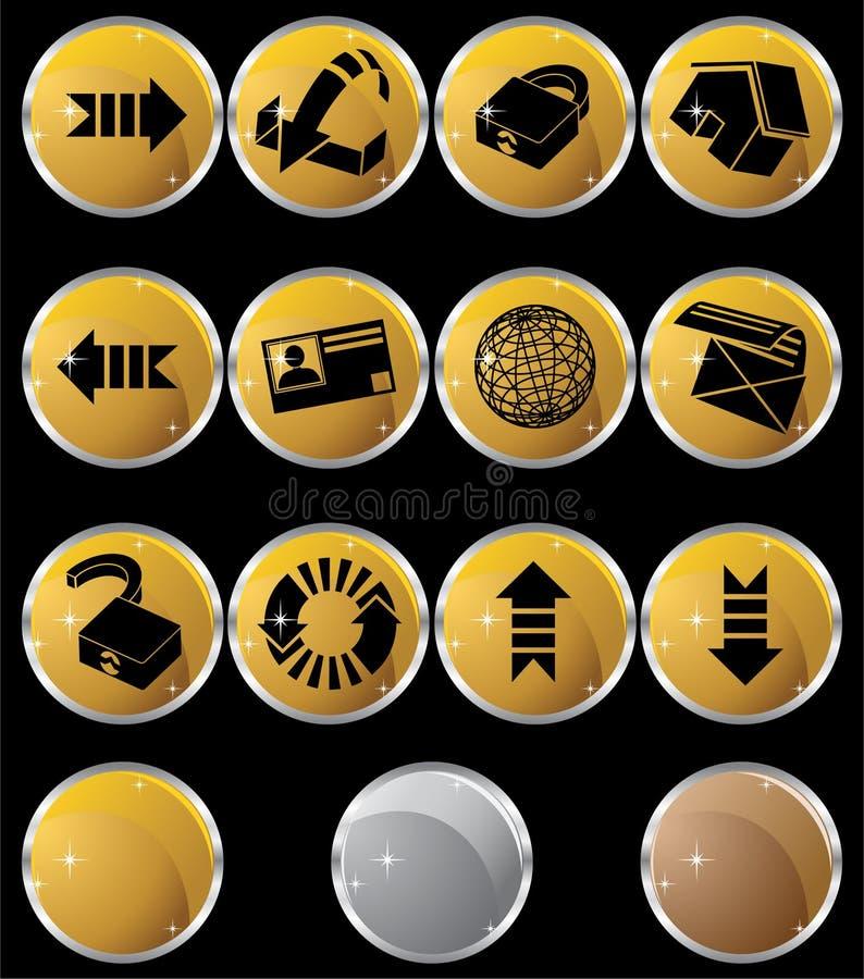 Boutons d'Internet - ronds illustration stock
