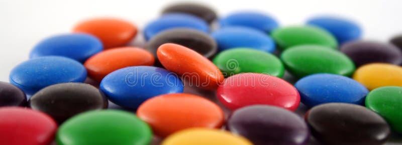 Boutons de chocolat images stock