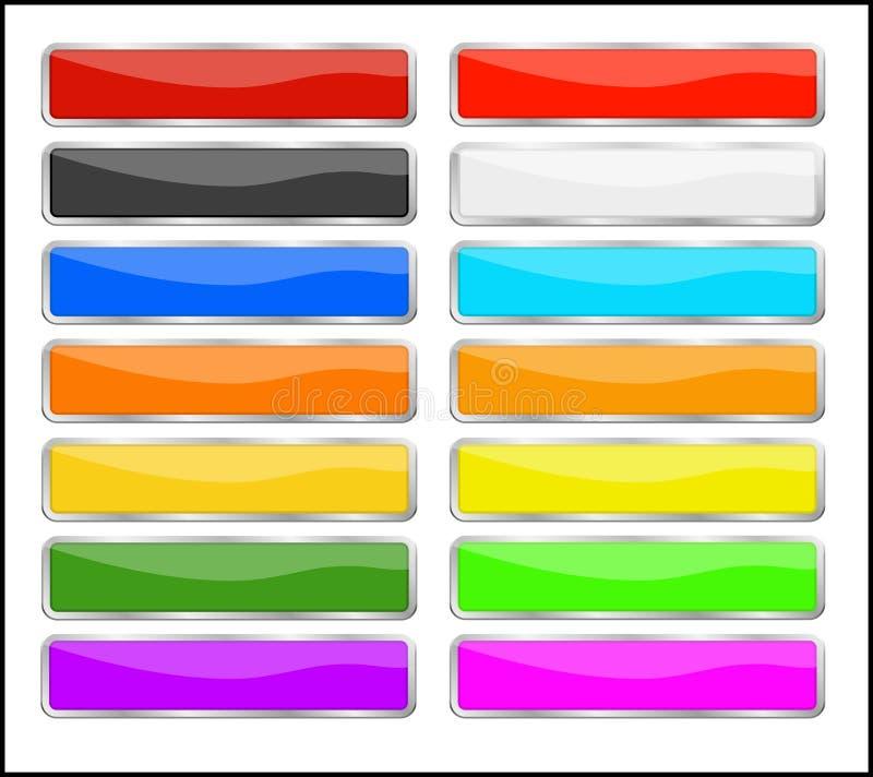Boutons de couleur réglés photo stock