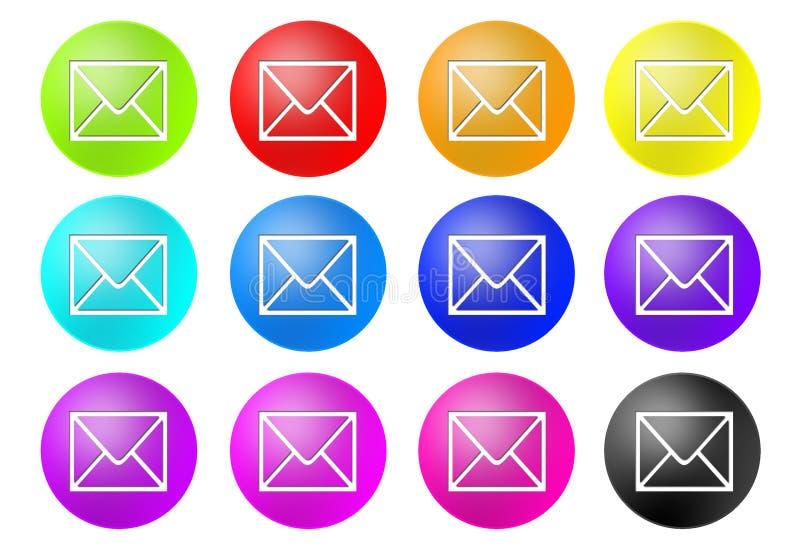 Boutons de courrier illustration libre de droits