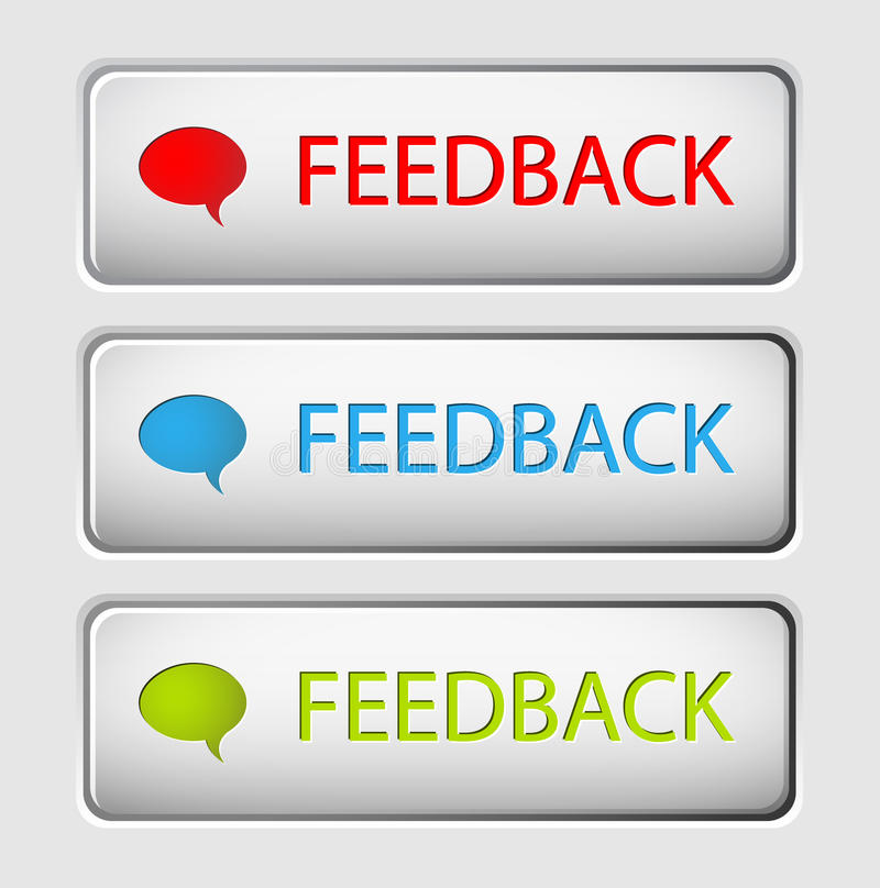 Boutons de feedback de vecteur illustration libre de droits