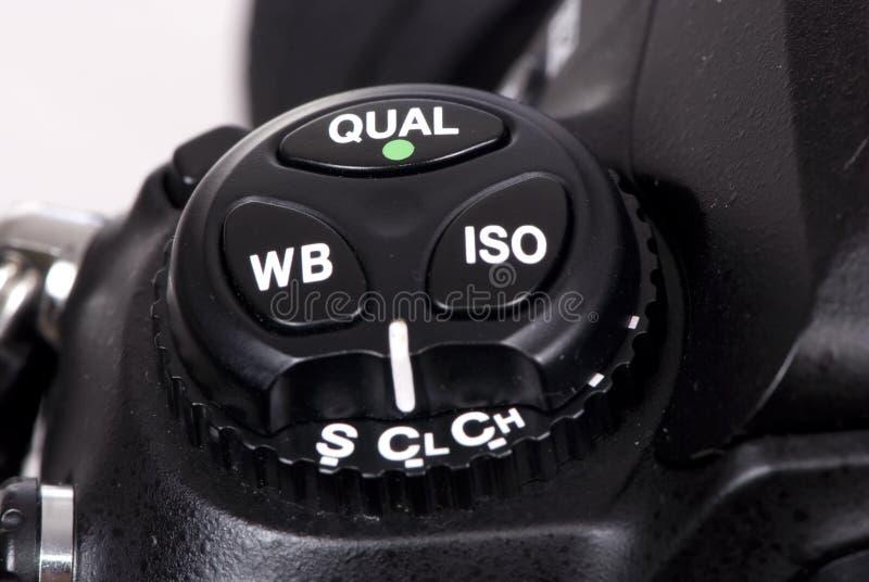 Boutons de l'appareil photo numérique DSLR trois image stock