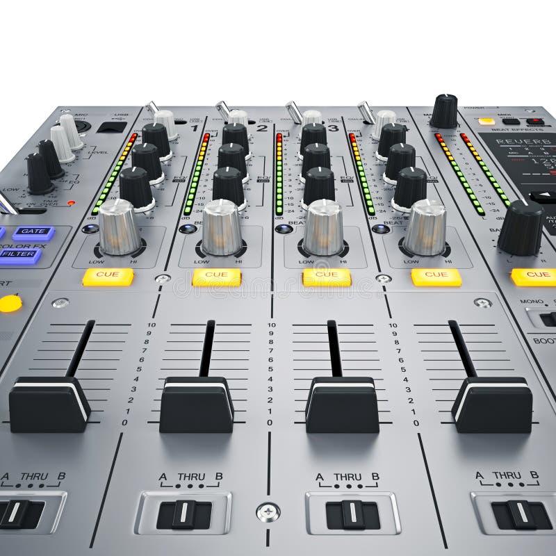 Boutons de mélangeur du DJ illustration stock