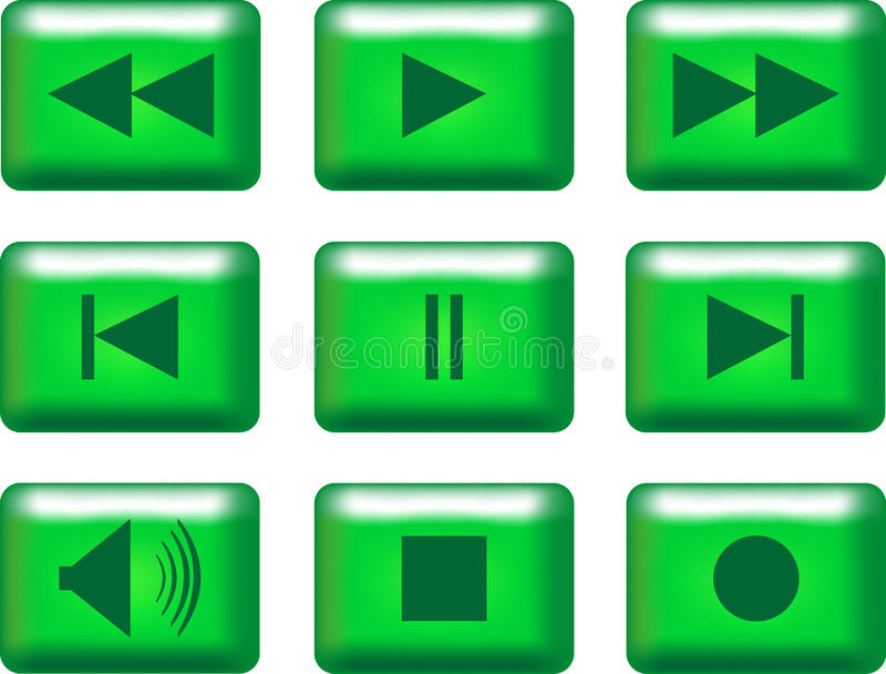 boutons de multimédia illustration de vecteur