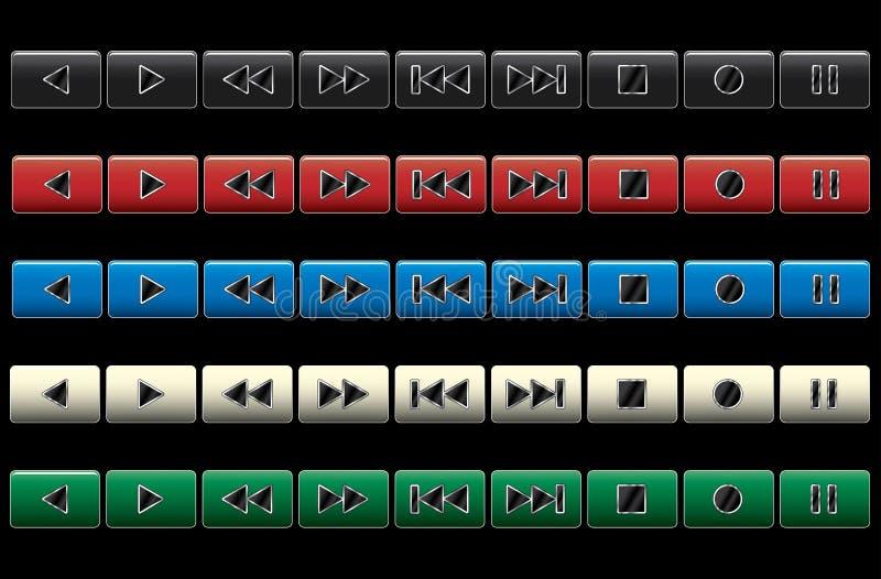Boutons de navigation de multimédia. illustration libre de droits