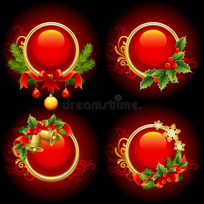 Boutons de Noël illustration stock