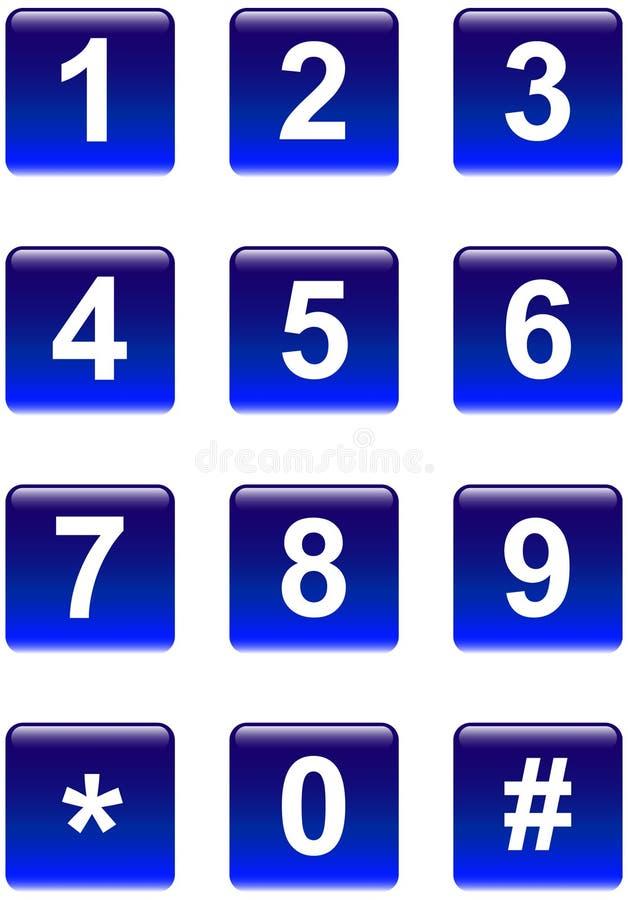 Boutons de numéros image libre de droits