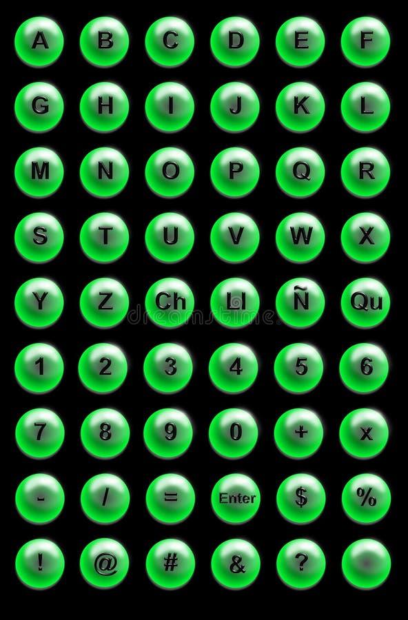 Boutons De Site Web Photo libre de droits