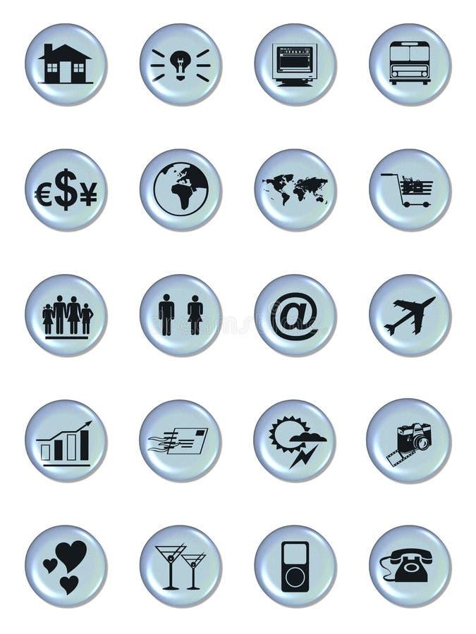 Boutons de symbole de Web illustration stock