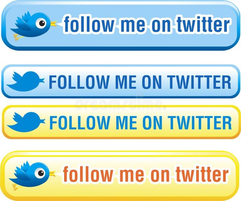 Boutons de Twitter réglés illustration de vecteur