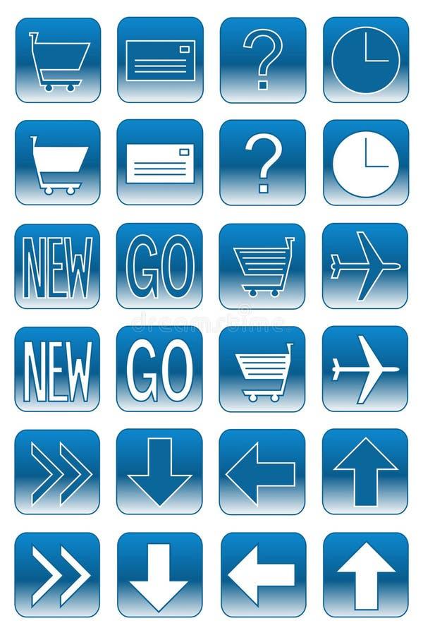 Boutons de Web : 2 bleu-clair illustration stock