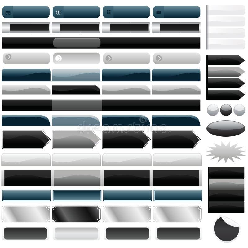 Boutons de Web illustration stock