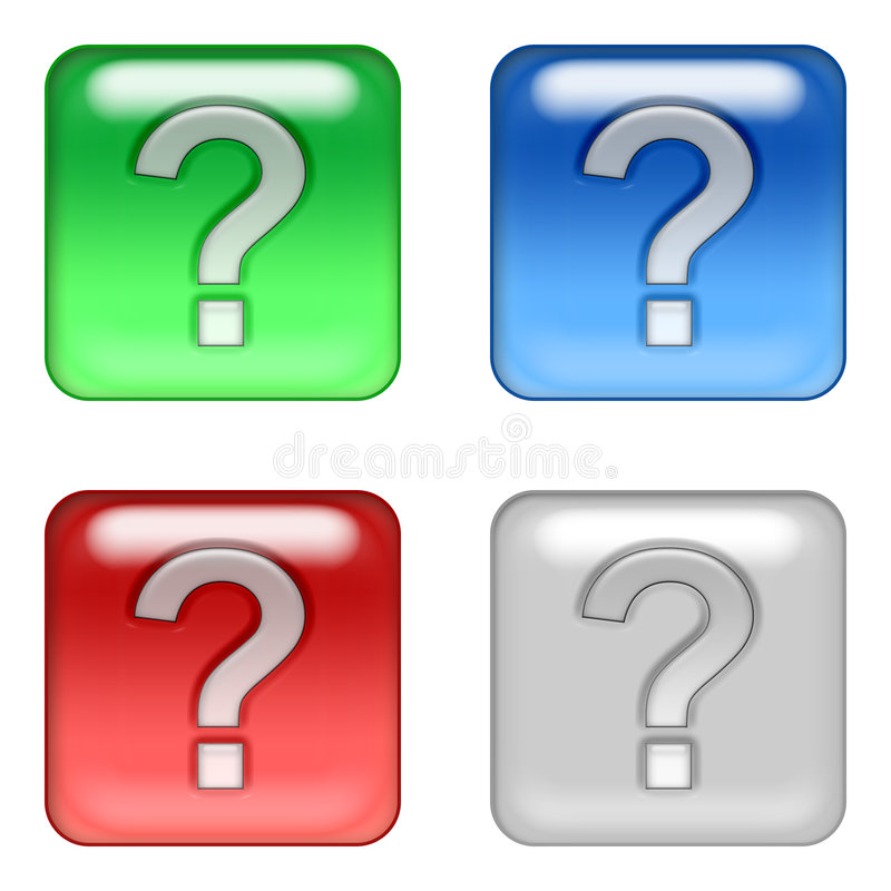 boutons de Web de question illustration de vecteur