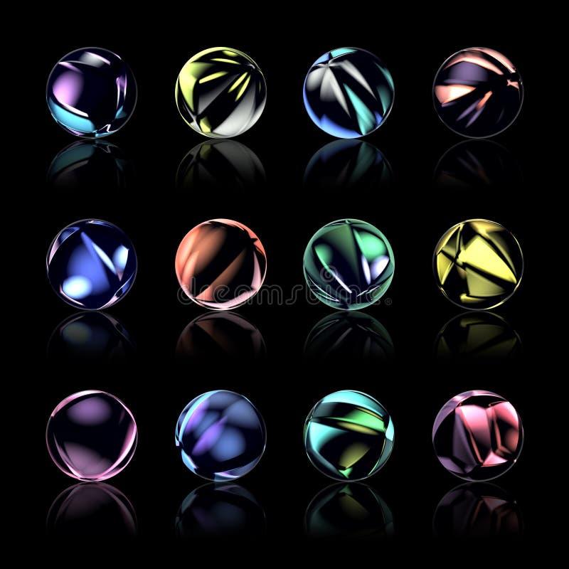 Boutons de Web de sphère illustration de vecteur