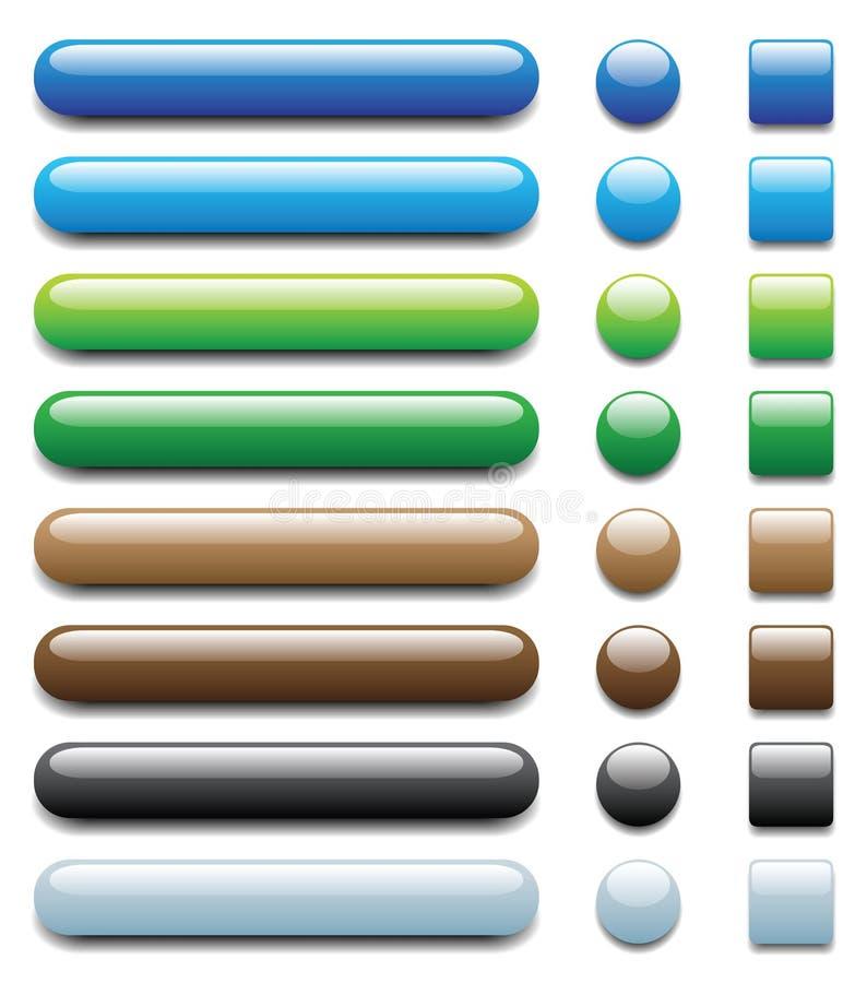 Boutons de Web - positionnement 1 illustration libre de droits