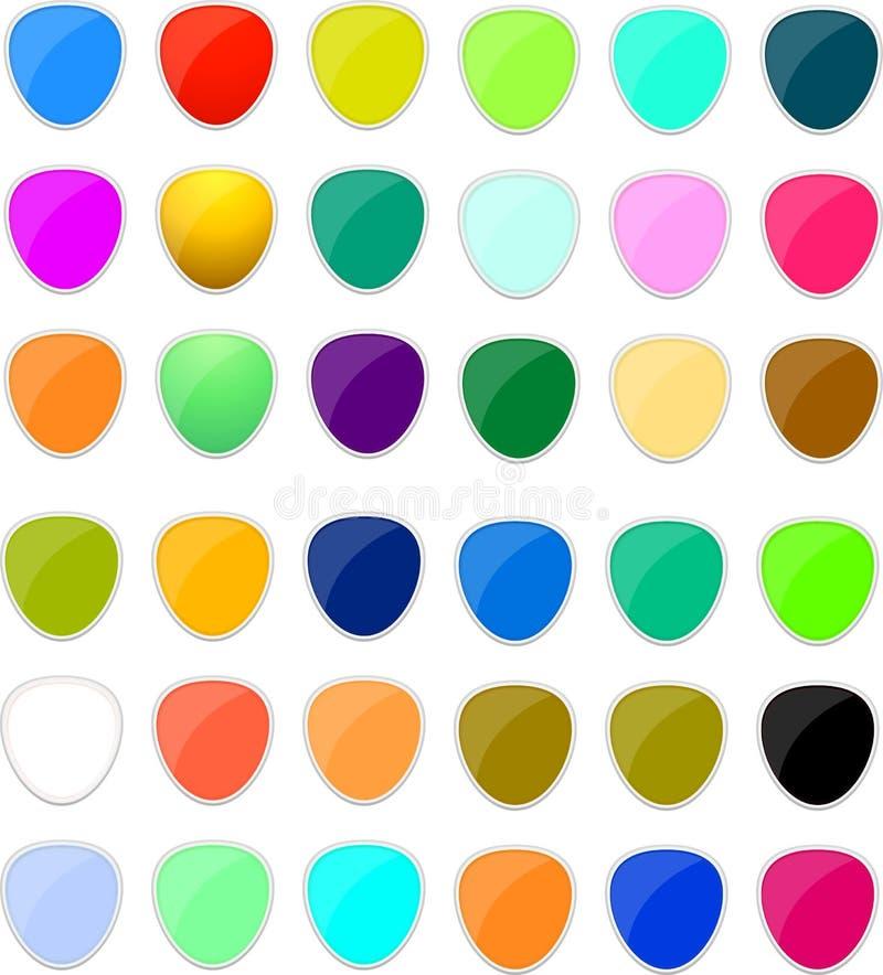Boutons drôles colorés photo libre de droits