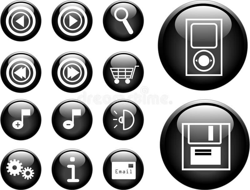 boutons du vecteur 3D illustration stock