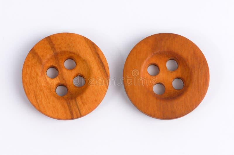 Boutons en bois photo stock