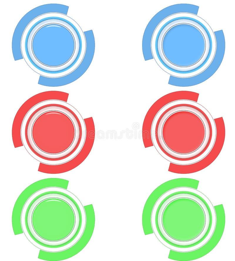 Boutons en fonction hors fonction illustration de vecteur