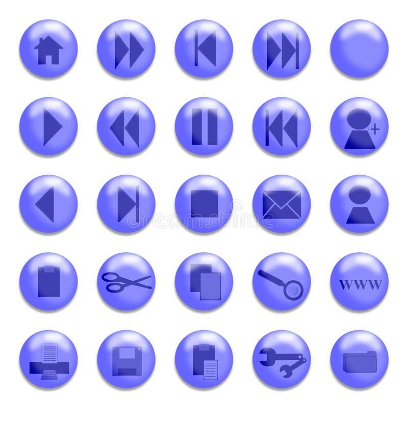 Download Boutons en verre bleus illustration stock. Illustration du pâte - 155143