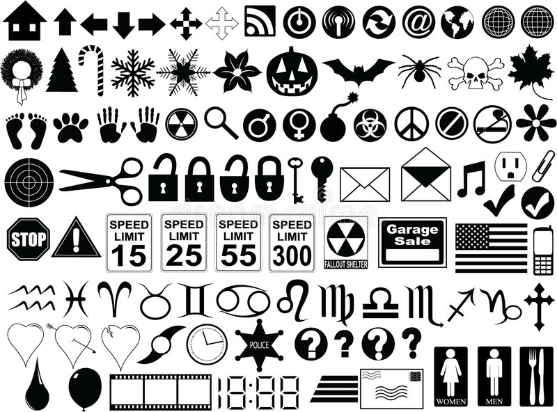 Boutons et signes illustration de vecteur