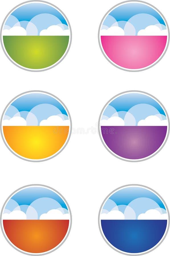 Boutons/graphismes de nuage illustration libre de droits