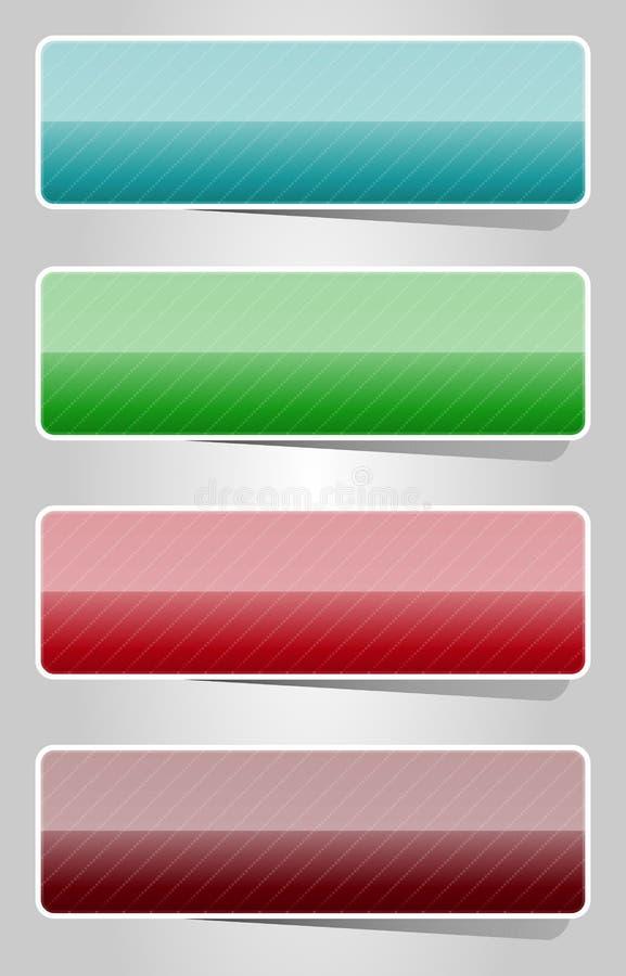Boutons lustrés de couleur illustration de vecteur
