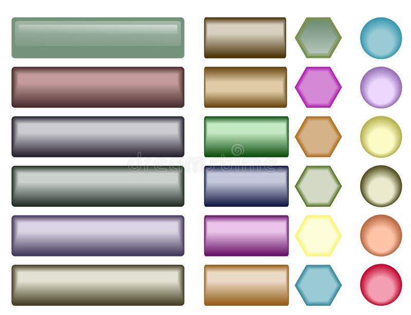 Boutons lustrés de Web illustration libre de droits