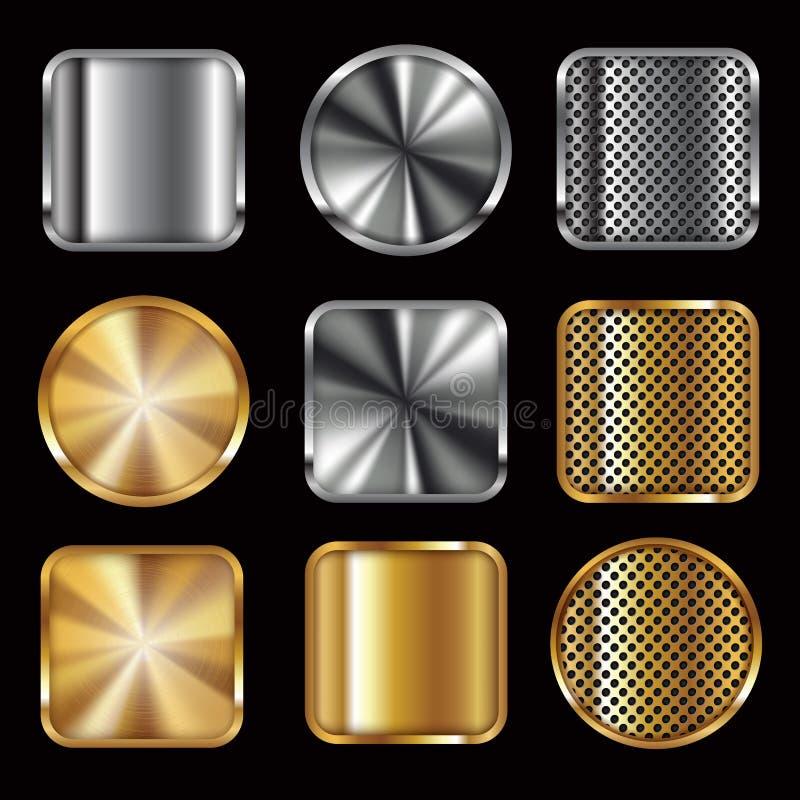Boutons métalliques illustration libre de droits