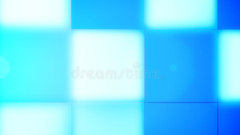 Boutons menés bleus et cyan brouillés illustration libre de droits