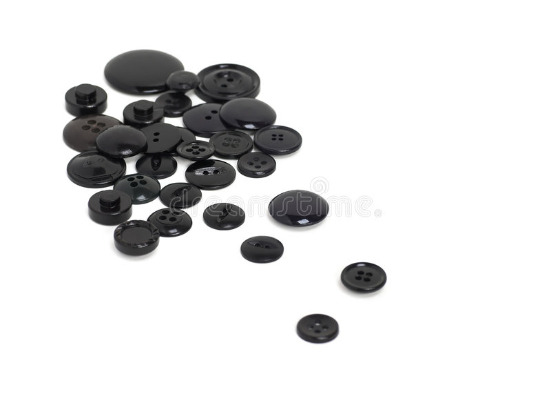 Boutons noirs photos libres de droits