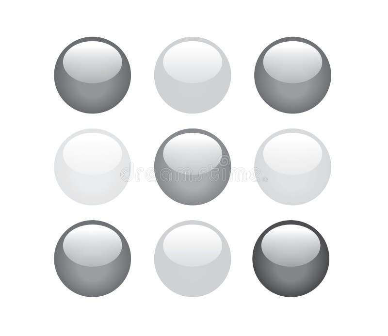 Boutons noirs et blancs images libres de droits