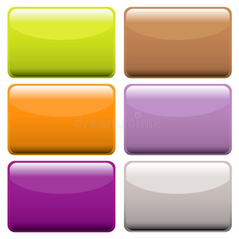 Boutons oblongs colorés de Web illustration de vecteur