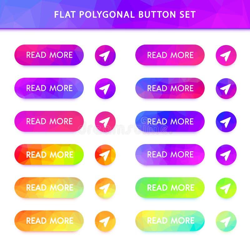 boutons polygonaux de vecteur de gradient illustration libre de droits