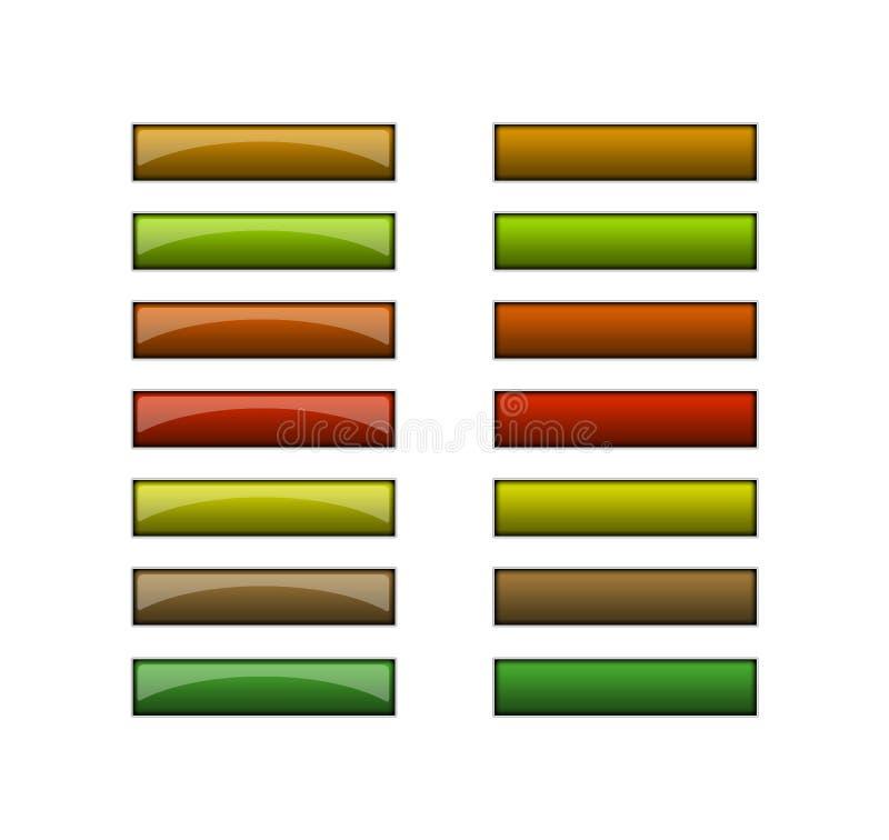 Boutons pour le Web - couleurs de terre illustration stock
