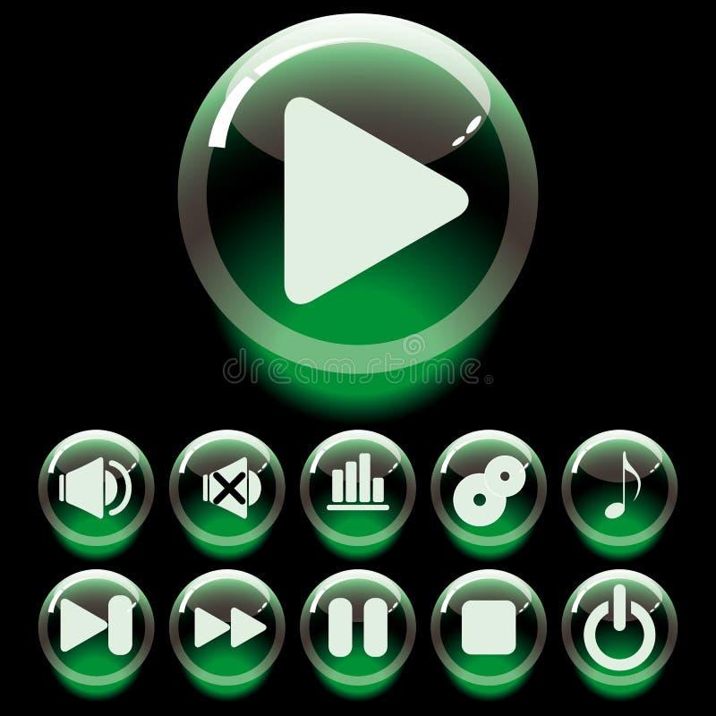 boutons réglés illustration libre de droits