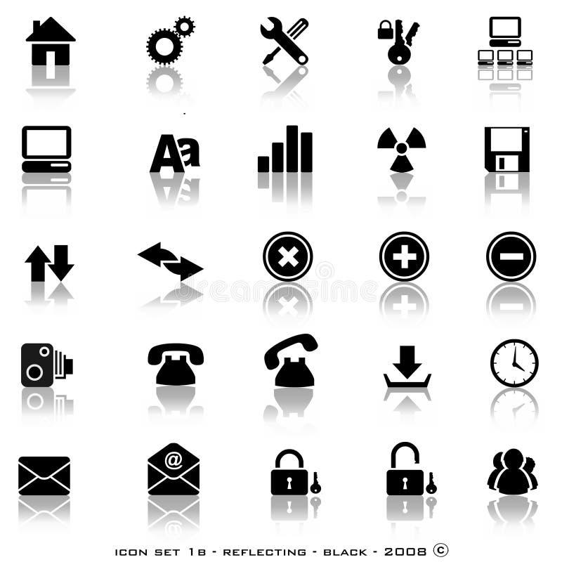 Boutons r3fléchissants de Web illustration stock
