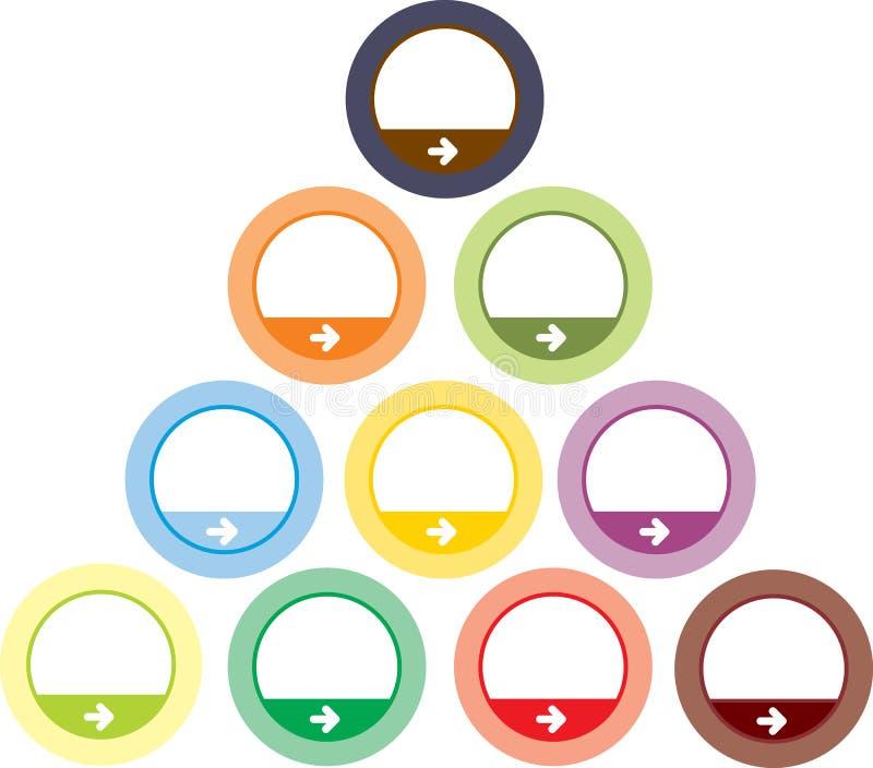 Boutons ronds colorés photographie stock libre de droits