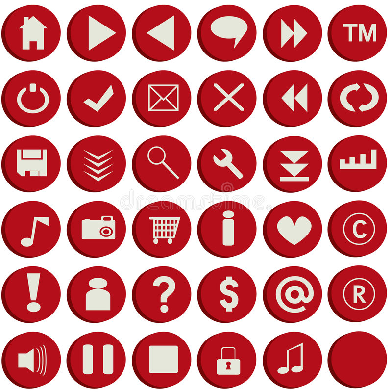 Boutons rouges de Web illustration libre de droits