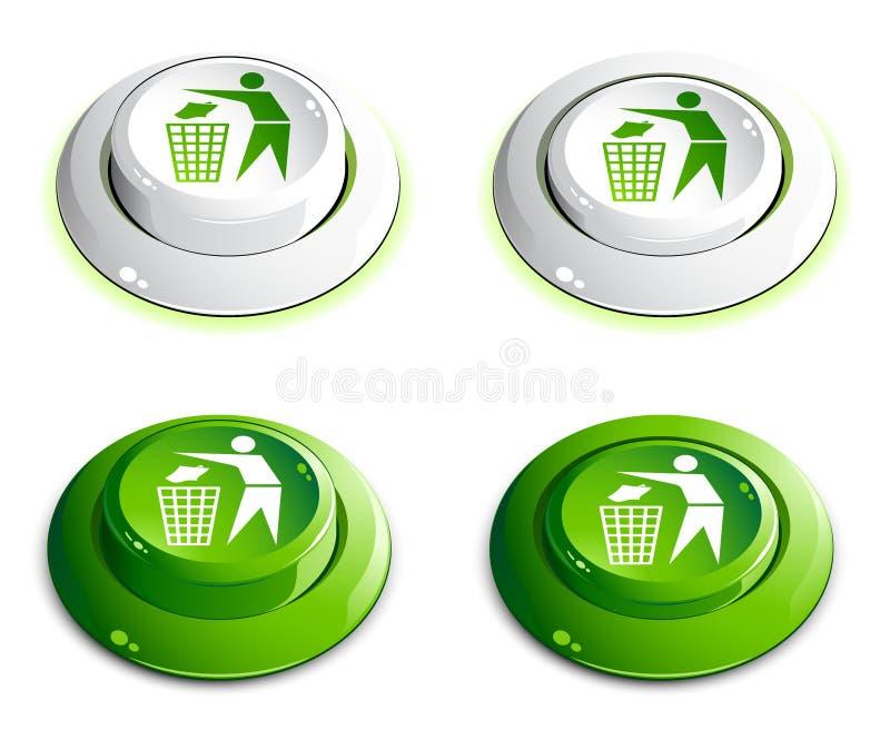 Boutons verts illustration libre de droits